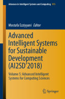 Advanced Intelligent Systems for Sustainable Development  AI2SD   2018