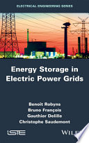 Energy Storage In Electric Power Grids Book PDF