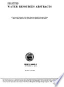 Selected Water Resources Abstracts