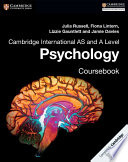 Books - Cambridge International As & A Level Psychology Coursebook | ISBN 9781316605691