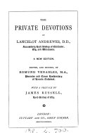 The private devotions of Lancelot Andrewes
