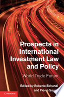 Prospects in International Investment Law and Policy Pdf/ePub eBook