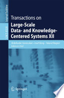 Transactions on Large-Scale Data- and Knowledge-Centered Systems XII