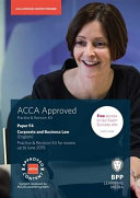 ACCA Skills F4 Corporate and Business Law (English) Revision Kit 2014