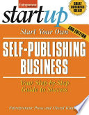 Start Your Own Self Publishing Business Book