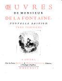 Œuvres De Monsieur De La Fontaine, Nouvelle Edition
