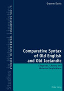 Comparative Syntax of Old English and Old Icelandic