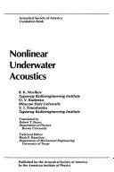 Nonlinear Underwater Acoustics