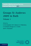 Groups St Andrews 2009 in Bath: