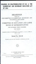 Hearings on Reauthorization of H R  6