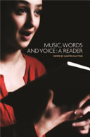 Music  Words and Voice Book PDF