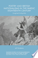 Poetry and British Nationalisms in the Bardic Eighteenth Century