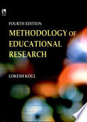 Methodology of Educational Research, 4th Edition