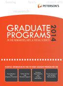 Graduate Programs in the Humanities, Arts & Social Sciences 2014 (Grad 2)