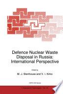 Defence Nuclear Waste Disposal in Russia  International Perspective