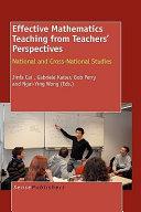 Effective Mathematics Teaching from Teachers  Perspectives