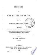 Memorials of mrs. Elizabeth Smith