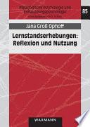 Lernstandserhebungen: Reflexion und Nutzung