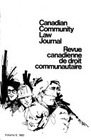 Canadian Community Law Journal