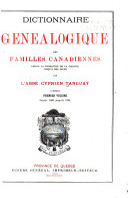 Dictionnaire généalogique des familles canadiennes: v. Depuis 1608 jusqu'à 1700