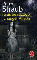 Pdf Tu as beaucoup changé, Alison Telecharger