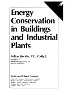 Energy Conservation in Buildings and Industrial Plants
