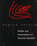 Design and Optimization of Thermal Systems