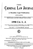 The Criminal Law Journal