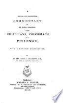 Philippians Colossians Philemon 1 2 Timothy Titus