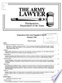 The Army Lawyer Book