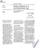 Public diplomacy in the information age