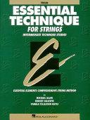 Essential Technique for Strings   Violin