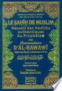 Le Sahih De Muslim Recueil des Hadiths authentiques de prophete avec commentaire D'Al-Nawawi 1-10 Vol 6