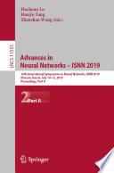 Advances in Neural Networks     ISNN 2019