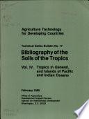 Bibliography Of The Soils Of The Tropics Vol 4