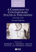 Pdf A Companion to Contemporary Political Philosophy Telecharger