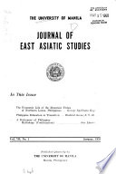 University of Manila Journal Of East Asiatic Studies