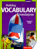 Building Vocabulary  Level 1 Kit
