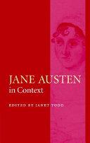 Pdf Jane Austen in Context