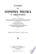 Curso de economía política y argentina