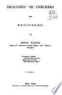 Draughts Or Checkers for Beginners