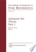 Axiomatic Set Theory, Part 1