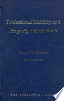 Professional Liability And Property Transactions