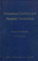 Professional Liability and Property Transactions ebook