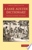 A Jane Austen Dictionary