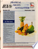 Tropical Fruits Newsletter No 20
