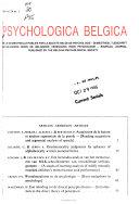 Psychologica Belgica Book