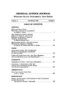 Criminal Justice Journal