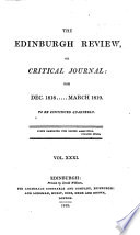 THE EDINBURGH REVIEW  OR CRITICAL JOURNAL  FOR DEC  1818      MARCH 1819 TO BE CONTINUED QUARTELY