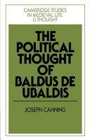 The Political Thought of Baldus de Ubaldis